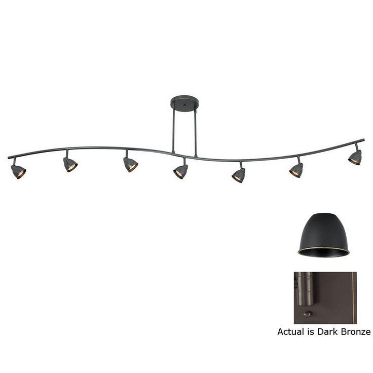 cal lighting serpentine 7light standard dark bronze glass pendant linear - Track Lighting Lowes