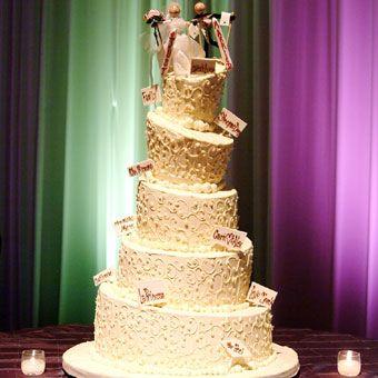 Ski Slope Inspired Wedding Cake