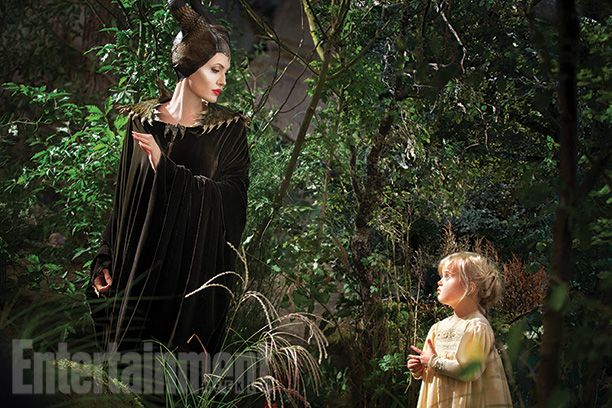 Angie's daughter Viv is appearing as young Aurora in the Maleficent movie...She was the only kid on set who wasn't afraid of her mother's makeup. So precious!
