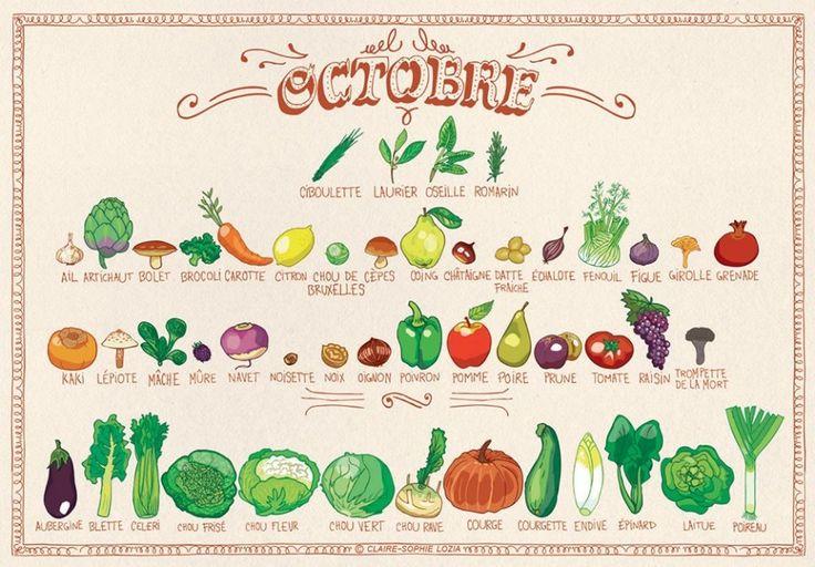Voici le calendrier des fruits & légumes d'Octobre | Mr Mondialisation