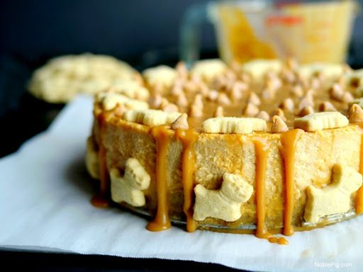 Butterscotch Overload Cheesecake With Shortbread Crust With Walkers Shortbread Fingers, Butter, Instant Butterscotch Pudding Mix, Whole Milk, Cream Cheese, Sweetened Condensed Milk, Vanilla, Large Eggs, Butterscotch Chips, Heavy Cream, Butterscotch Chips, Dogs