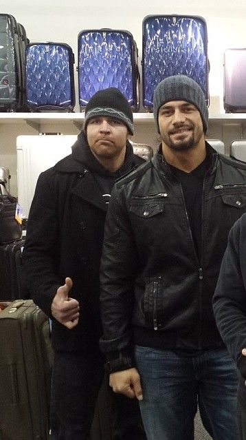 twinambrose:  Dean and Roman…♥♥♥ no words:)  Added close up:D