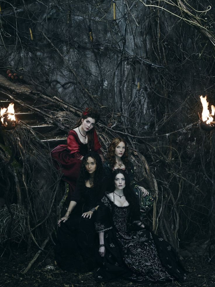 Salem - Mary Sibley and Anne Hale with Tituba and Mercy Lewis