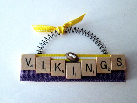 Minnesota Vikings Football Scrabble Tile by ScrabbleTileOrnament