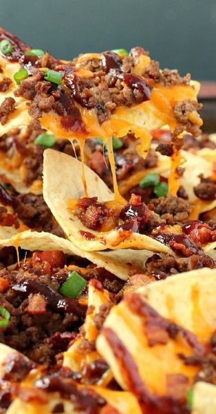 BBQ Bacon Cheeseburger Nachos - The Recipe Rebel
