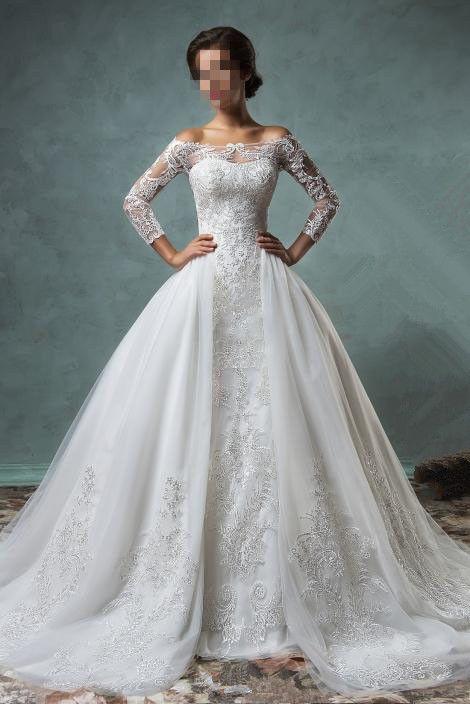 Neue  Langarm Spitze Meerjungfrau Brautkleider Hochzeitskleid Maßgeschneidert in Kleidung & Accessoires, Hochzeit & Besondere Anlässe, Brautkleider | eBay!