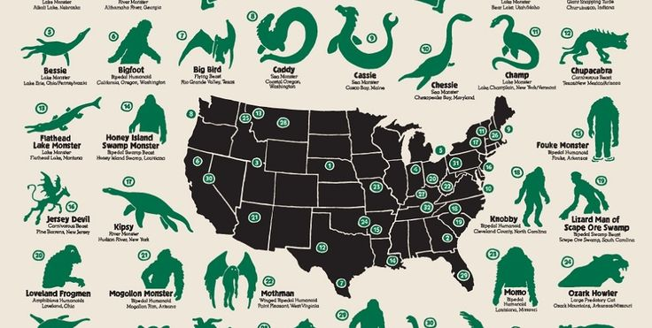 Featured Image for Map shows us where legendary monsters are hiding across the United States
