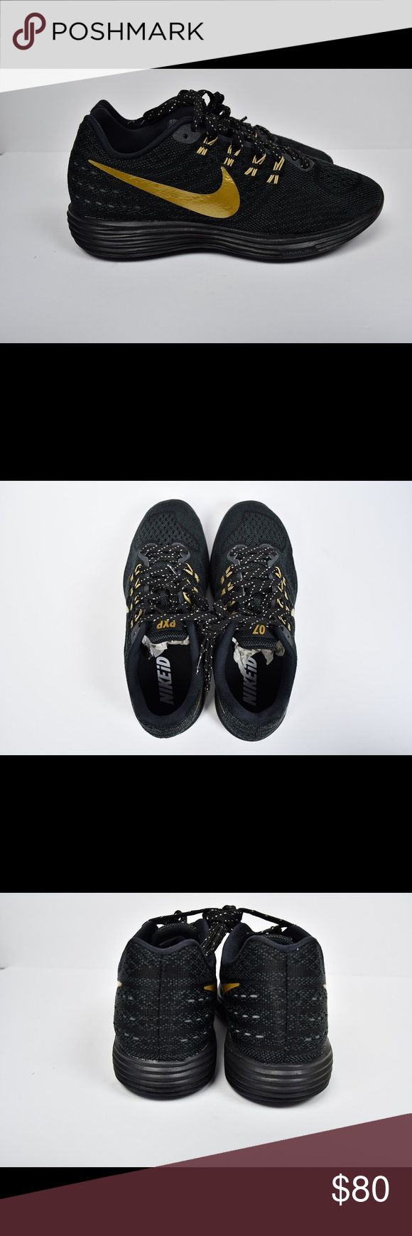 Nike ID LunarTempo 2 sneakers black and gold Sz 7 Brand new with no box Nike ID LunarTempo 2 sneakers black and gold Size 7 Nike Shoes Athletic Shoes