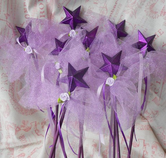 Princess Party Favor Wands  set of 8 by paulawellsstudio on Etsy, $30.00