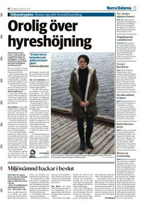 Katharina Sjöström, ordförande Hyresgästföreningen Siljansbygden om omorganisationen av Morastrand och det hot som finns om hyreshöjning.