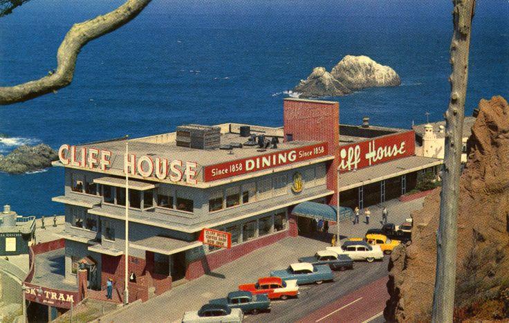 Cliff House c. 1950's: San Francisco Vintage Travel, Francisco Postcards, San Francisco California, 1950S, California San Francisco, 1950 S, Photo, California Postcards, Cliff Houses