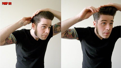 I love a man with a snazzy pompadour!