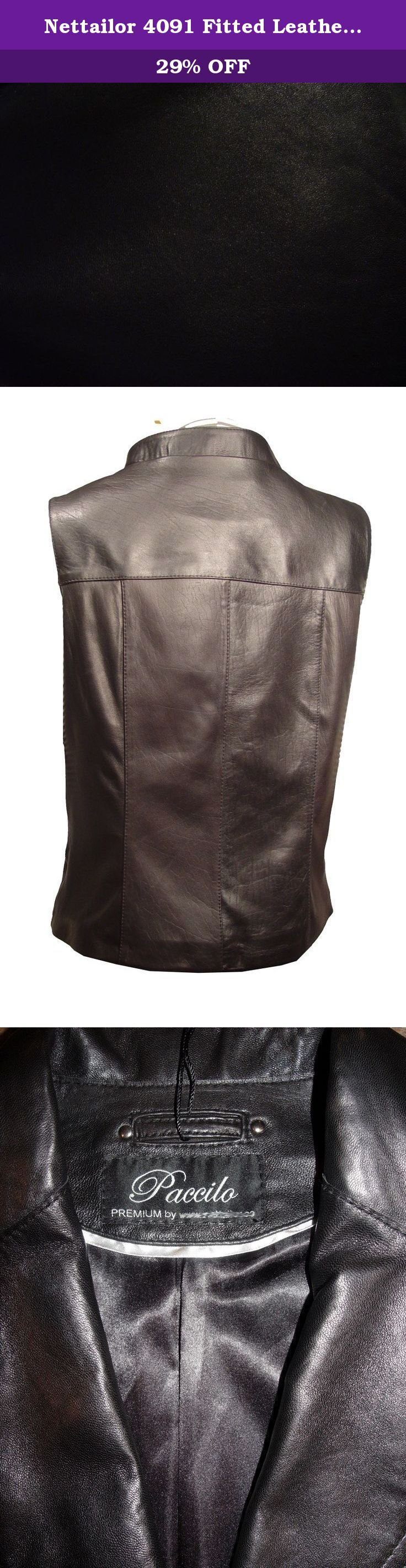 "Nettailor 4091 Fitted Leather Female motorcycle Vests. Lambskin, Stand Up Collar, Zip Front. Not all leather is the same. When vendors say or state, ""leather or genuine leather"", they generally use ""pig skin"", which is the worst quality of leather and therefore inexpensive. If you choose to buy ""leather or genuine leather"" only because of its cheap price, you will mostly end up buying ""pig skin"" leather ($50-$150 price range). Lambskin, pigskin and cowhide (about $100-$300 range) are the..."