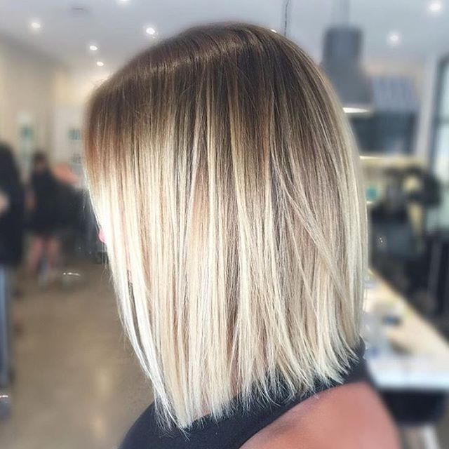 Platinum blonde with roots