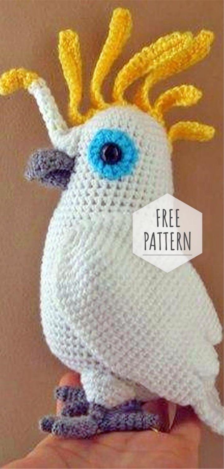 amigurumi cockatoo video tutorial | patron crochet gratuit