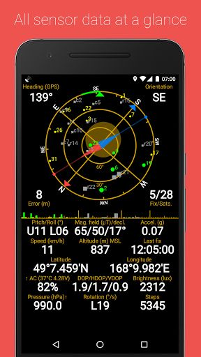 GPS Status & Toolbox v8.0.166 [Mod Lite]   GPS Status & Toolbox v8.0.166 [Mod Lite] Requirements:4.0 Overview:Displays GPS and sensor data: position and signal strength of satellites accuracy speed acceleration altitude bearing pitch roll and battery state.  Have you ever waited minutes to get a GPS lock? Do you often forget where your car is parked? Did you ever wonder what sensors do your android powered device have and whether they work properly? GPS Status & Toolbox isthe answerto all…