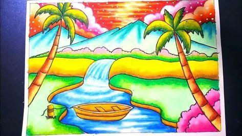 Keren 30 Gambar Pemandangan Yg Simpel Dan Indah Gambar Pemandangan Pantai Yang Simple Tukangpantai Download 7 Cara Lukisan Kupu Kupu Buku Mewarnai Sketsa