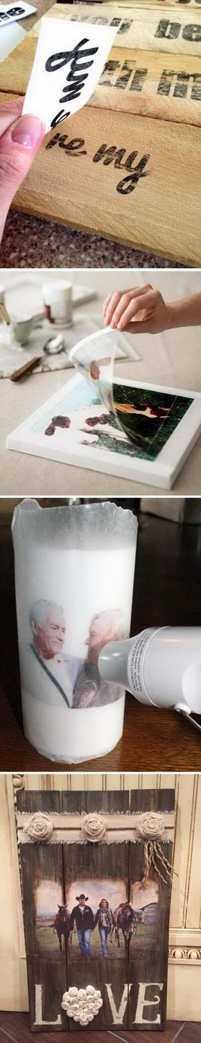 Lots of DIY Ideas & Tutorials for Photo Transfer Projects
