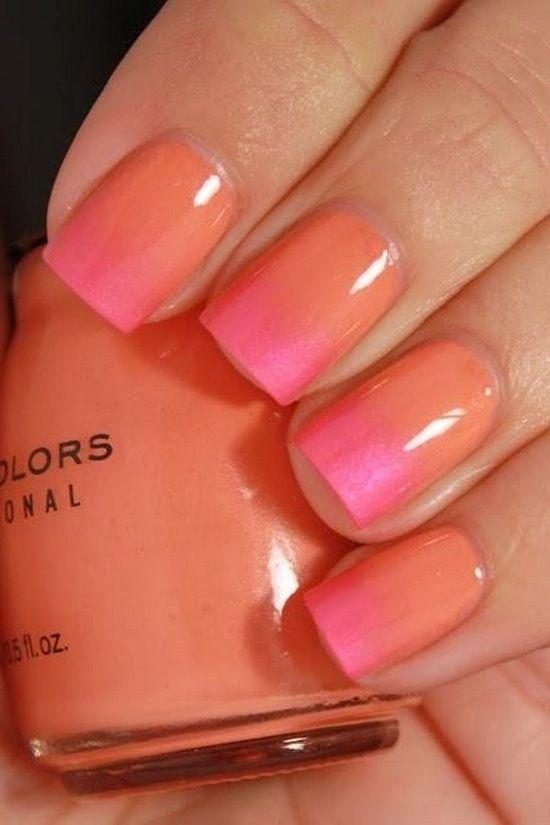 feminine orange nails! Update trending colors for nails http://summerfashiontrends2014.tumblr.com/