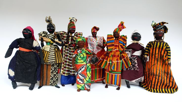 Group of dolls from Senegal (West Africa)