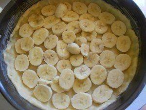 Очень нежный пирог с бананами.