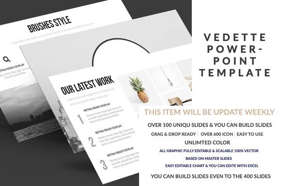 Vedette PowerPoint Template by Mock-upstore on @creativemarket