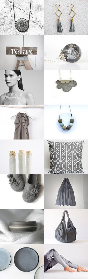 Relax in grey by Alexa Brains on Etsy--Pinned with TreasuryPin.com