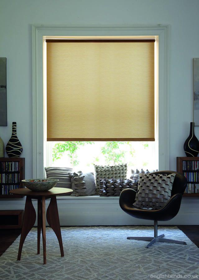 Soothing light brown roller blind