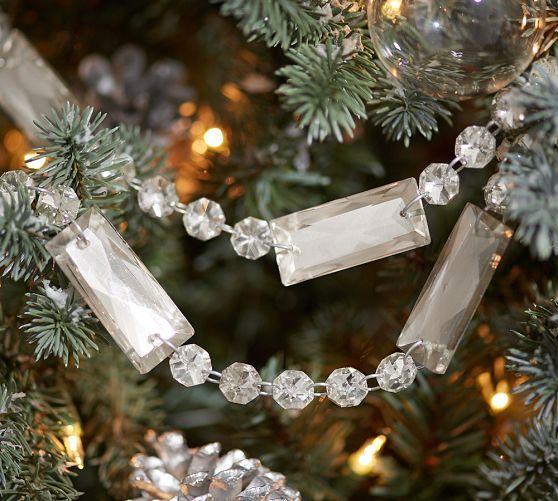 Vintage Glass Crystal Garland