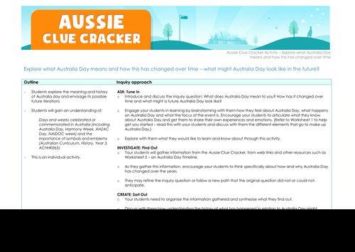 Aussie Clue Cracker - Explore activity