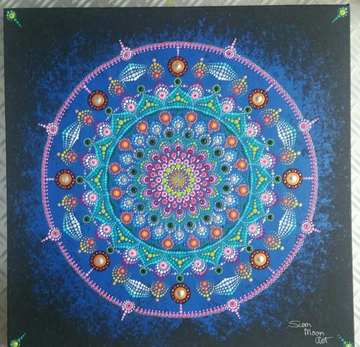 Dotting mandala van Siem Moon Art
