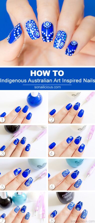 How to Indigenous Australian Art Inspired Nails