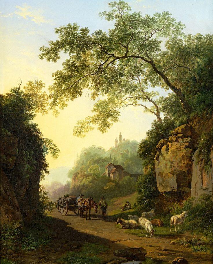 Barend Cornelis Koekkoek - Bergachtig landschap 1828
