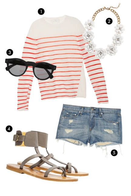 Street-style inspired 4th of July outfits--shop your fashion editor's red white and blue inspiration board!