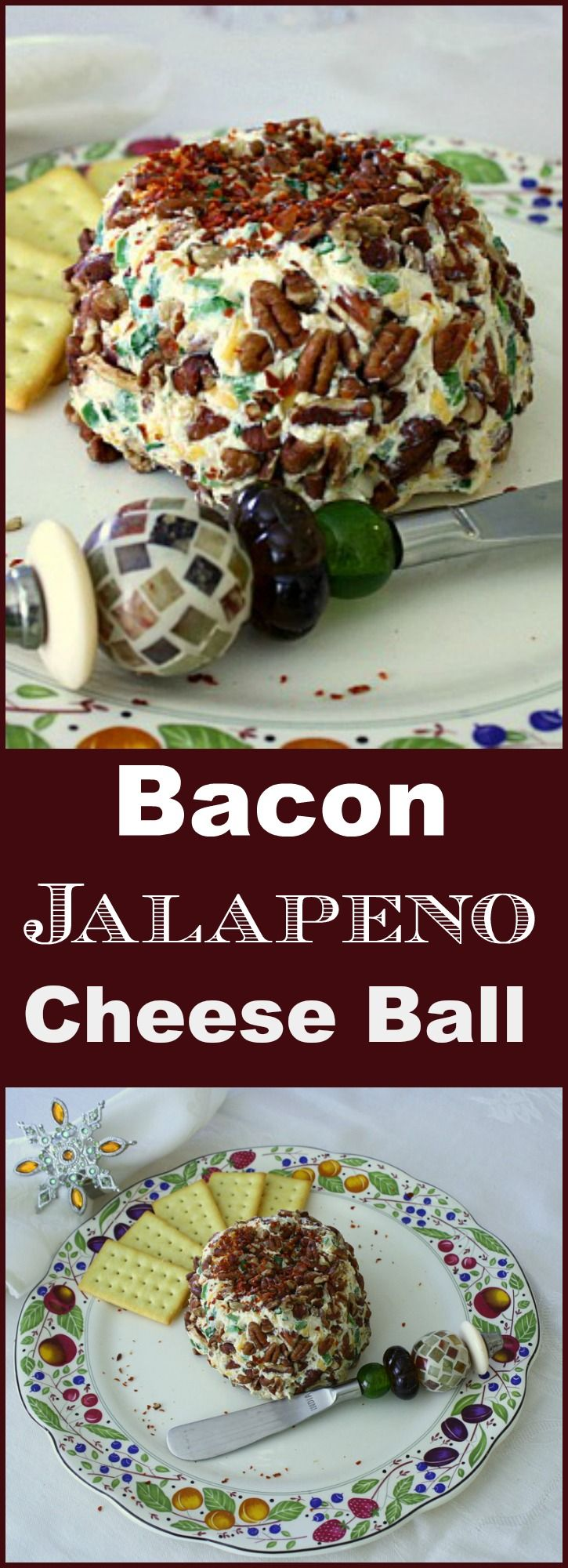 Easy Bacon Jalapeno Cheese Ball Recipe. Perfect for the holidays, The best cheeseball recipe appetizer for your holiday party.