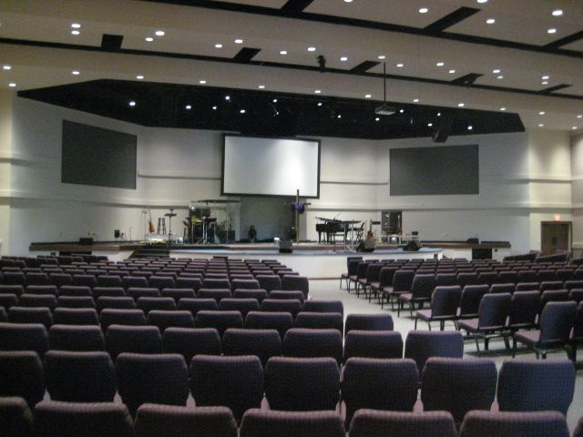 Red Oak First Baptist Church   Auditorium Approach To 850 Seats By Brown,  Brown And