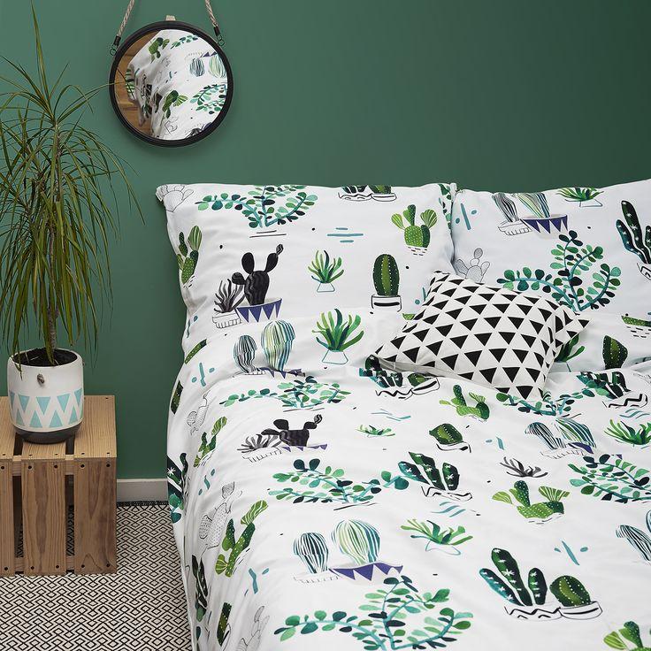 Cacti bedroom -White pocket #cactus #green #green #plants
