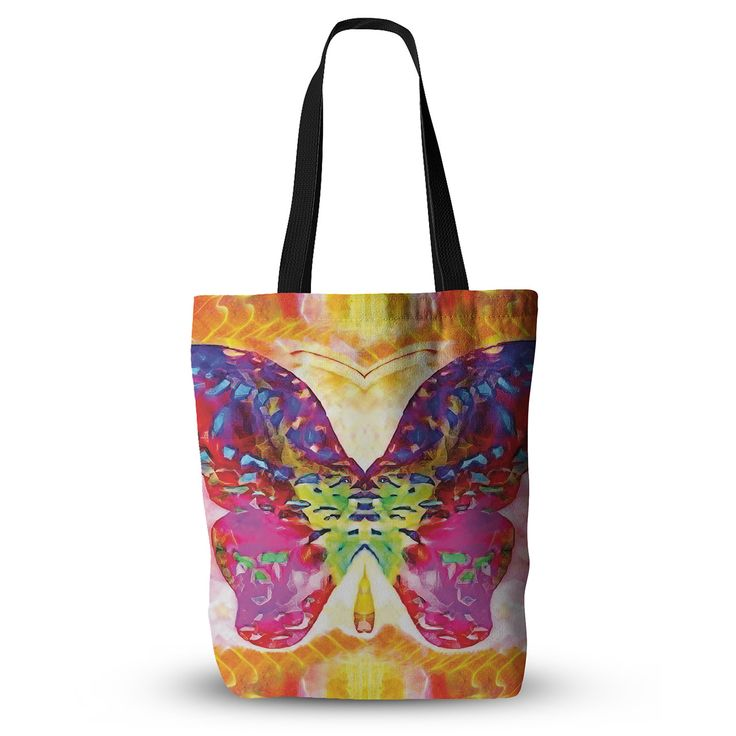 """Anne LaBrie """"Butterfly Spirit"""" Pink Yellow Everything Tote Bag from KESS InHouse"""