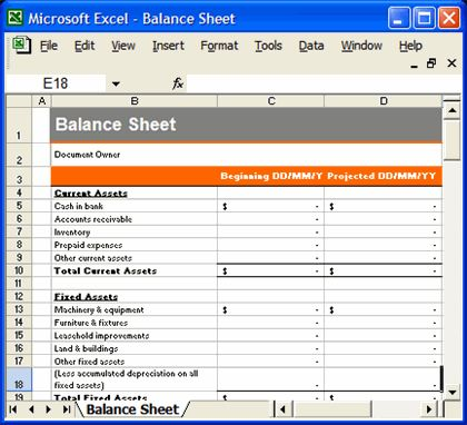 business plan template excel format
