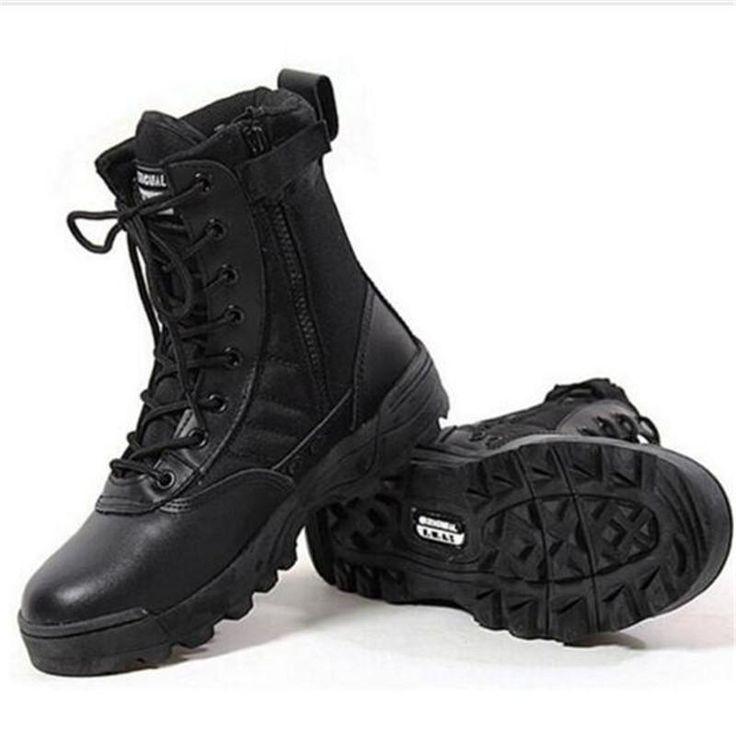 Men Army Boots Mens Military Desert Boot SWAT Combat