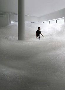 Tokujin Yoshioka  installation -these look like spun fiberglass but the material is made from  straws-amazing (check out his website)