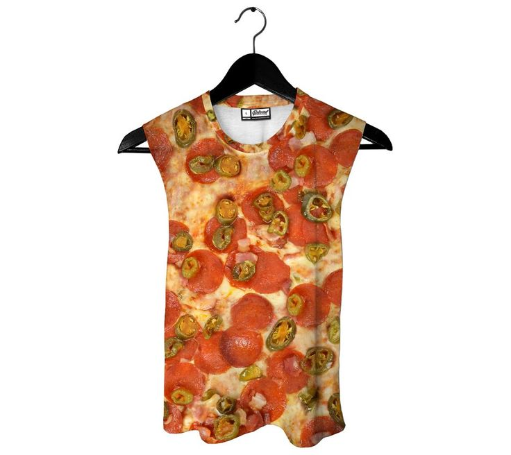 Jalapeno Pep Pizza Muscle Tank from Beloved Shirts