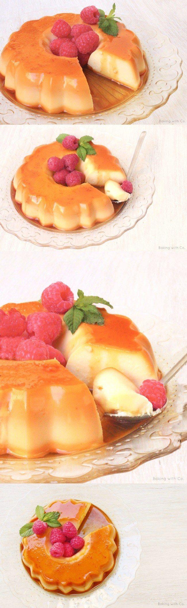 Flan de mascarpone bañado en caramelo / http://bakingwithco.blogspot.com.es