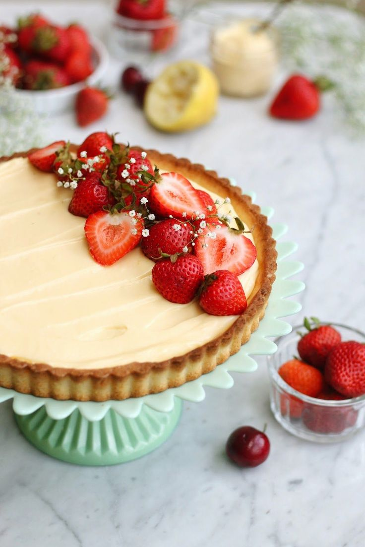Constellation Inspiration: Lemon Cream Tart with Berries (and a little about San Francisco!)