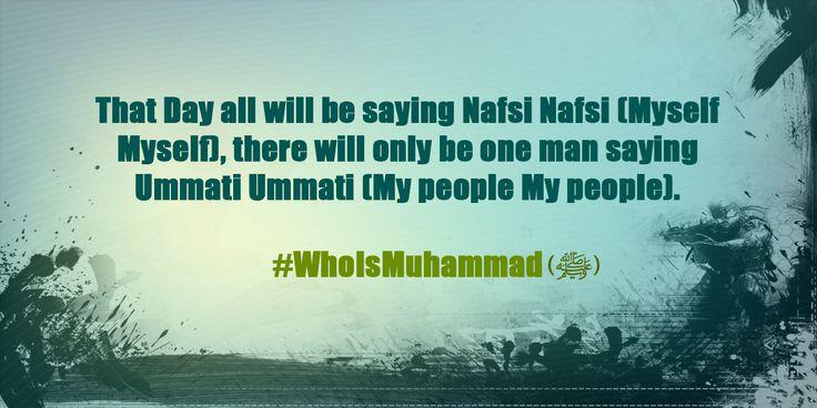 #WhoIsMuhammad (ﷺ)