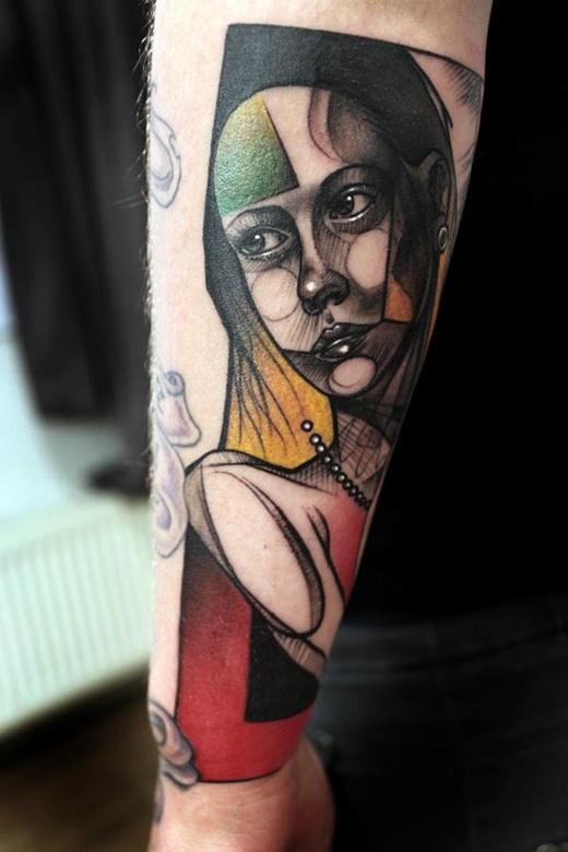 picasso-esque ink: Peteraurisch, Peter O'Toole, Peter Aurisch, Tattoo Artists, Tattoo'S, Abstract Tattoo, Tattoo Design, Amazing Tattoo, Tattooart