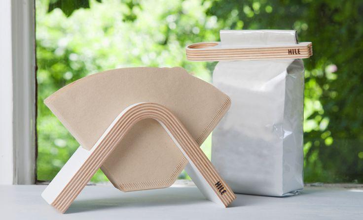SOLA coffee filter holder & KAPU scoop and bag closer / Hile Design