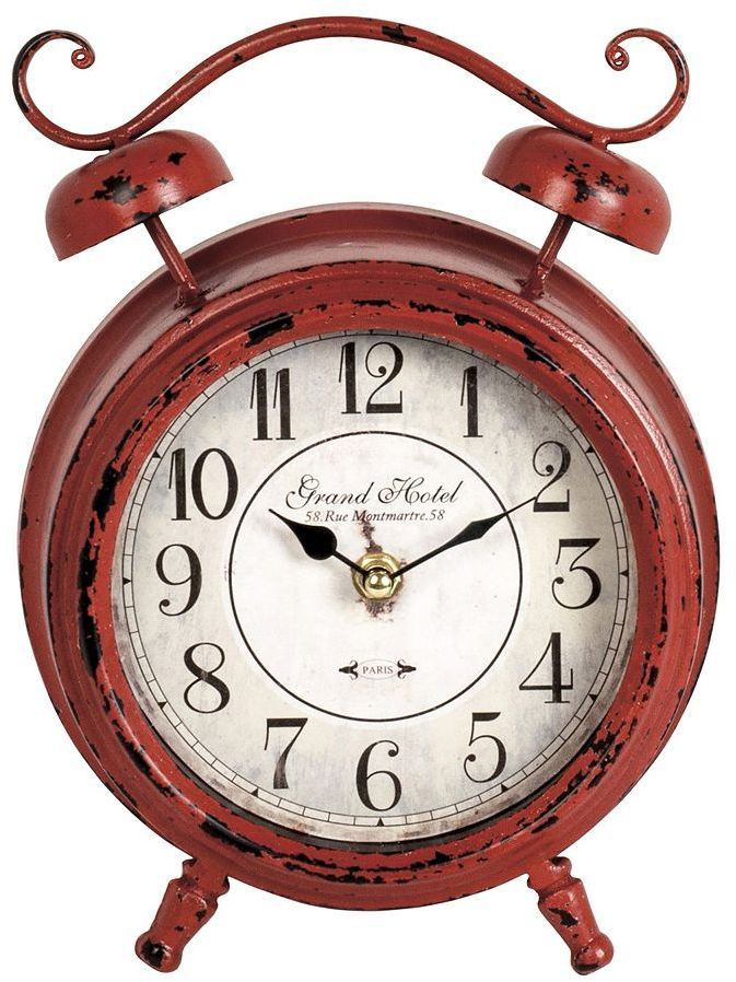 Double bell table clock