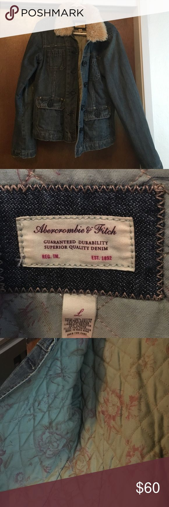 Abercrombie and fitch jacket Nicely lined heavy warm Abercrombie and fitch jacket make an offer ;) Abercrombie & Fitch Jackets & Coats Jean Jackets