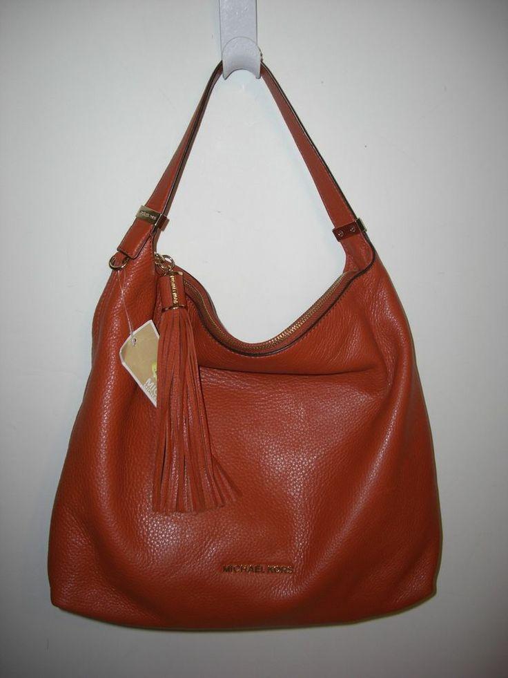 Orange Leather Shoulder Bag 42